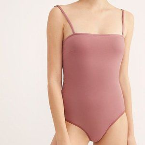 FREE PEOPLE square neck mulberry bodysuit top